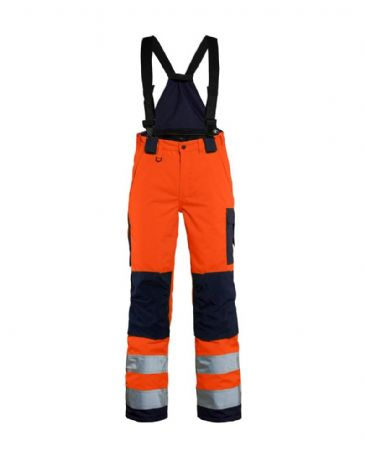 Blaklader 7885 Ladies High Vis Winter Trouser(Orange/Navy Blue)